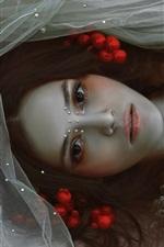 Preview iPhone wallpaper Agnieszka Lorek, fantasy art girl