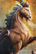 Preview iPhone wallpaper Animals, fiction, hooves, horns, horse, monster