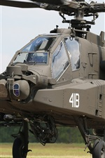 Preview iPhone wallpaper Apache AH-64 helicopter front view