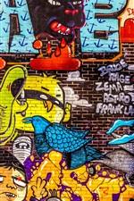 Arte graffiti, textura, parede
