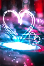 Preview iPhone wallpaper Beautiful love hearts light