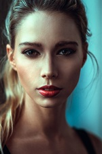 Preview iPhone wallpaper Blonde girl, makeup, portrait
