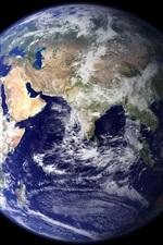 Terra azul, planeta, fundo preto