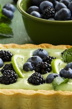 Preview iPhone wallpaper Blueberries, blackberries, cake, pie