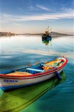 Vorschau des iPhone Hintergrundbilder Boote, See, Himmel