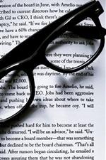 Book, glasses, still life