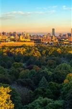iPhone fondos de pantalla Boston, ciudad, árboles, otoño, estados unidos de américa