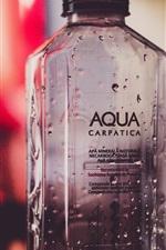Preview iPhone wallpaper Bottle, water drops, bokeh