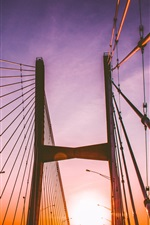Preview iPhone wallpaper Bridge, sunset, chains