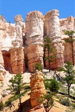 iPhone fondos de pantalla Bryce Canyon, Utah, Estados Unidos, rocas, árboles