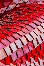 Preview iPhone wallpaper Building structure, red scales