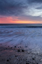 Preview iPhone wallpaper California, sea, sunset, beach, clouds, USA