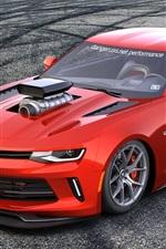 Chevrolet Camaro делает красный спортивный автомобиль