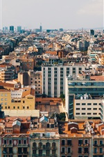 Preview iPhone wallpaper City view, houses, buildings, top view