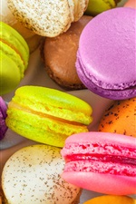 Preview iPhone wallpaper Colorful almond macarons, sweet food
