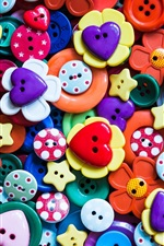Preview iPhone wallpaper Colorful buttons, many kinds