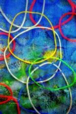 Fundo de círculos coloridos, imagem abstrata