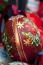 Preview iPhone wallpaper Colorful painted eggs, Easter