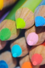 Preview iPhone wallpaper Colorful pencils, drawing tools