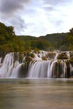 Preview iPhone wallpaper Dalmatia, Croatia, Krka National Park, waterfall
