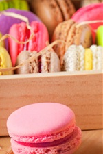 Preview iPhone wallpaper Delicious almond macarons, colors