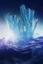 Preview iPhone wallpaper Digital rendering, crystals