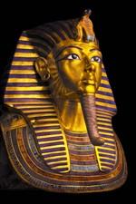 Egito, Museu do Cairo, Faraó, máscara de Tutankhamon, fundo preto