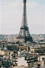 Preview iPhone wallpaper Eiffel Tower, Paris, city, buildings, roads