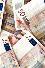 Preview iPhone wallpaper Euro, money
