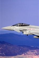 Preview iPhone wallpaper Eurofighter Typhoon multipurpose fighter flight