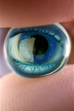 Preview iPhone wallpaper Eye, hand