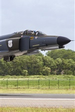 iPhone fondos de pantalla F-4F Phantom II vuelo de combate polivalente