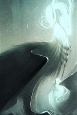 Preview iPhone wallpaper Fantasy art, wings, bird