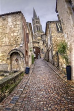 Preview iPhone wallpaper France, Aquitaine, Saint-Emilion, city, street, houses