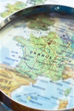 Preview iPhone wallpaper France, map, magnifier