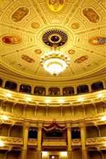 Preview iPhone wallpaper Germany, Saxony, Dresden, Opera, hall, balcony, lights