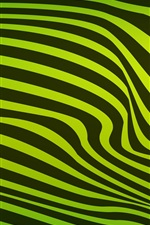 Green and black wavy stripes