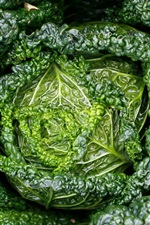 Preview iPhone wallpaper Green cabbage, vegetables