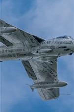 Preview iPhone wallpaper Hawker Hunter, bomber, flight, sky