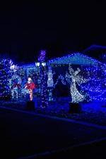 Luzes de férias, noite, Ano Novo, Natal