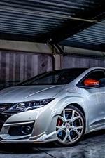 Preview iPhone wallpaper Honda CIVIC TYPE R sports car