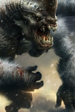 Preview iPhone wallpaper Huge monster, art picture