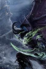 Preview iPhone wallpaper Illidan Stormrage, Warcraft, demon, elf, art picture