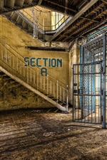 Preview iPhone wallpaper Interior, prison, fence