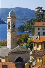 Preview iPhone wallpaper Italy, Menaggio, city, houses, lake