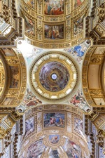 Preview iPhone wallpaper Italy, church interior, top view, painting