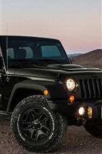iPhone fondos de pantalla Jeep, coche, anochecer