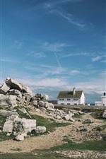 Vorschau des iPhone Hintergrundbilder Jurassic Coast, England, Leuchtturm