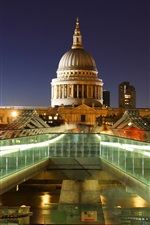 Preview iPhone wallpaper London, England, capital, St. Paul's Cathedral, lights, night
