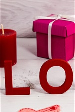 Preview iPhone wallpaper Love, candle, gift